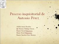 Proceso de Antonio Pérez